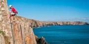 "Climbing ""Kitten Claws"" Carreg y Barcud Rock climbing Near St David's Pembrokeshire South Activities and Sports"